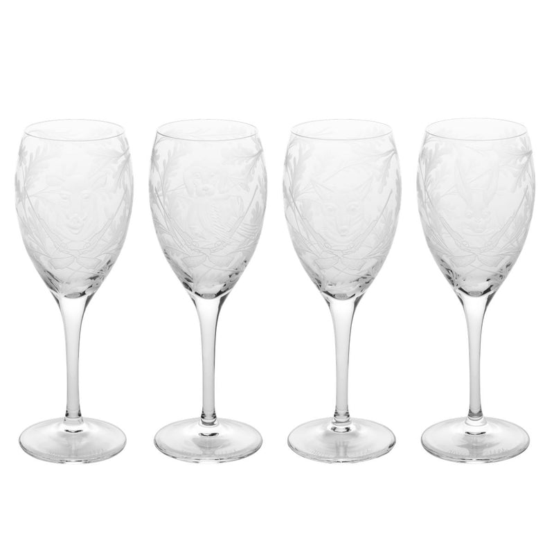 Forest Folly White Wine Glass Set of Four Clear - Mixed