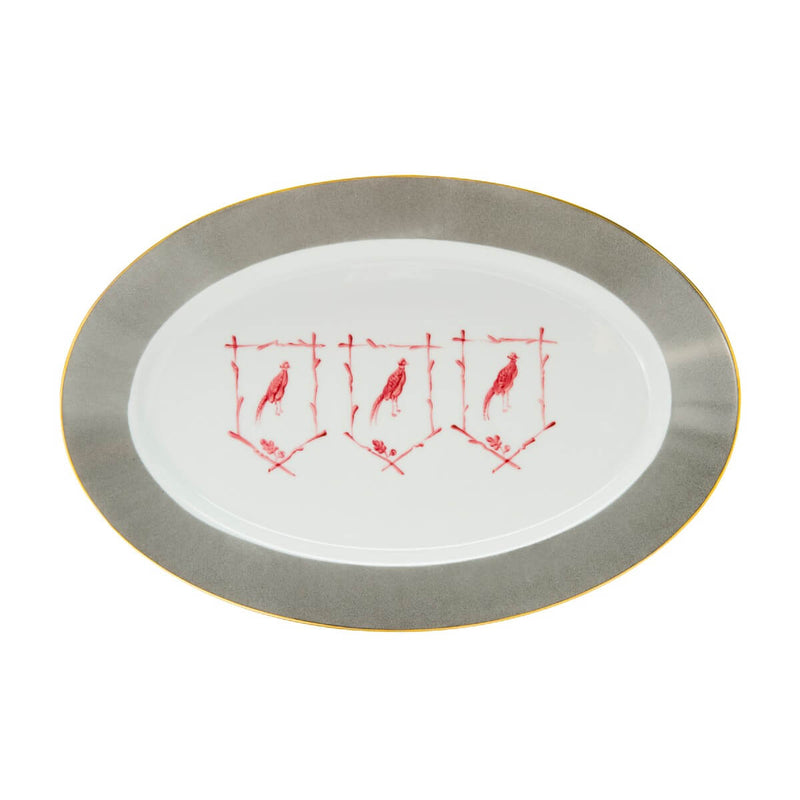 Saint Hubert Large Oval Serving Platter - Gentlemans Grey