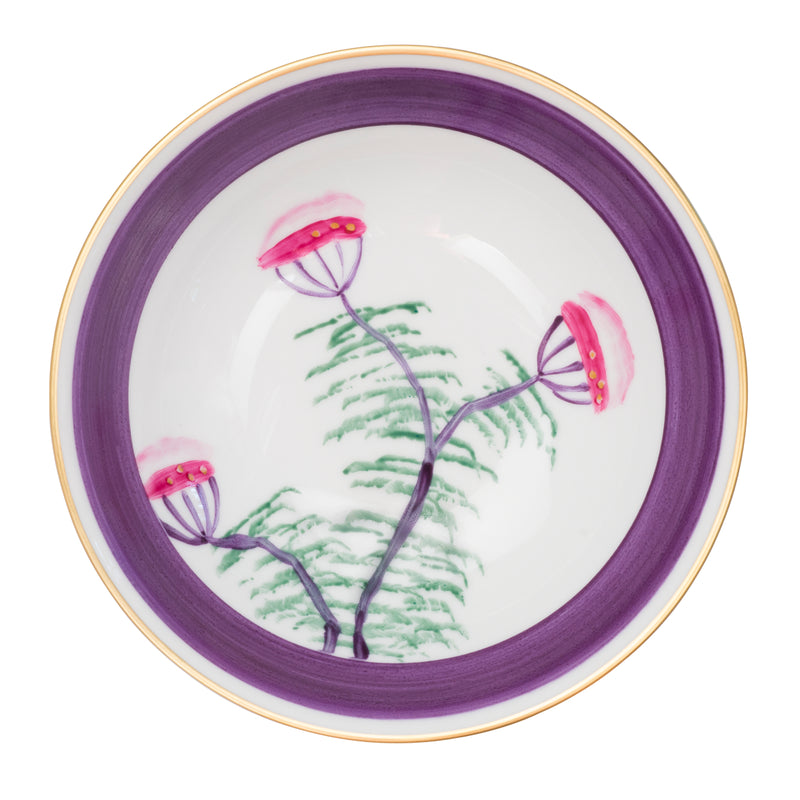 Peacock Soup Bowl - Amethyst Purple