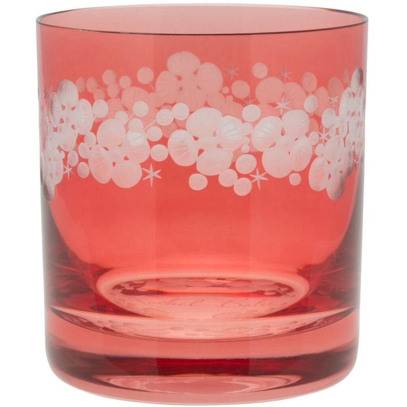 Moira Lace Cap Hydrangea Double Old Fashioned Tumbler - Rose Pink