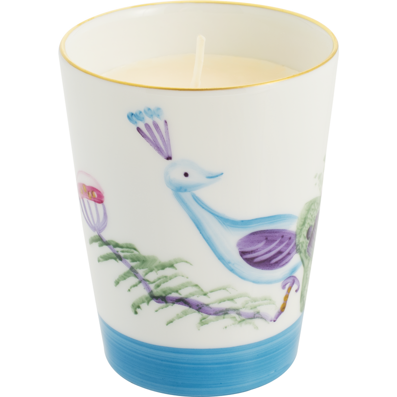 Peacock Candle - Turquoise Blue