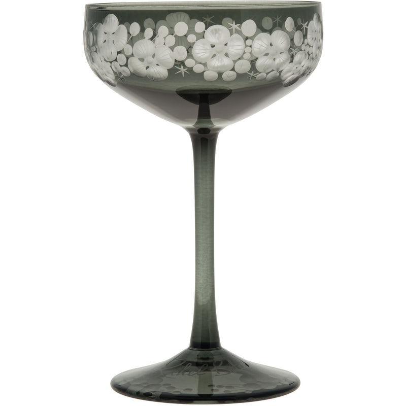 Isadora Champagne Saucer - Pewter Grey