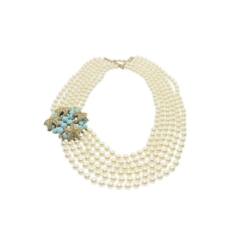 Oceana Multistrand Pearl Necklace