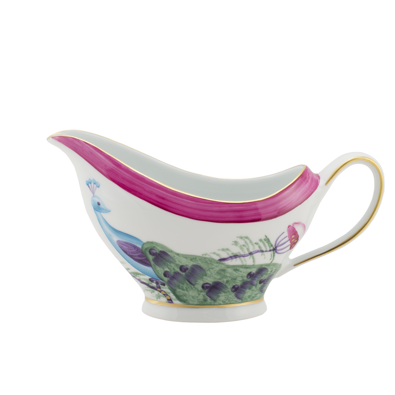 Peacock Sauce Boat Fuchsia Pink