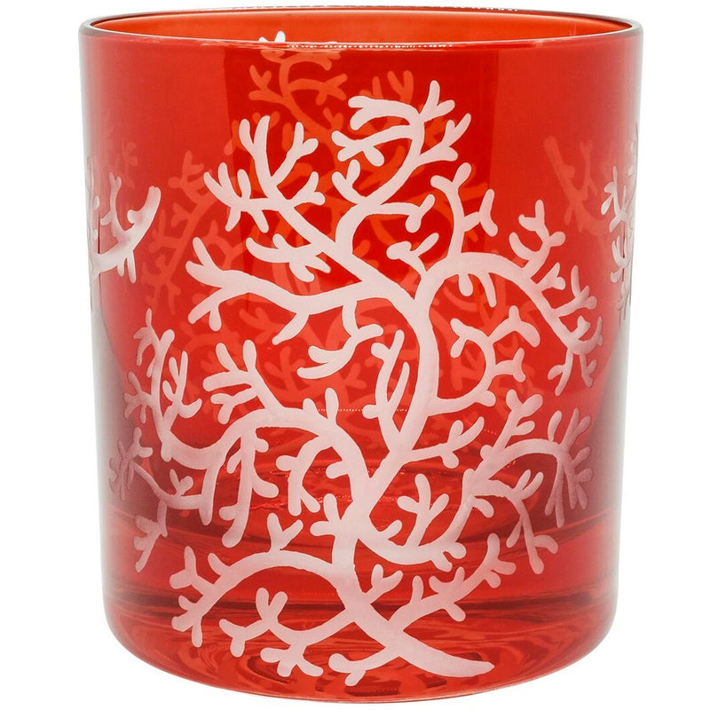Moira Corali Double Old Fashioned Tumbler - Fiery Red