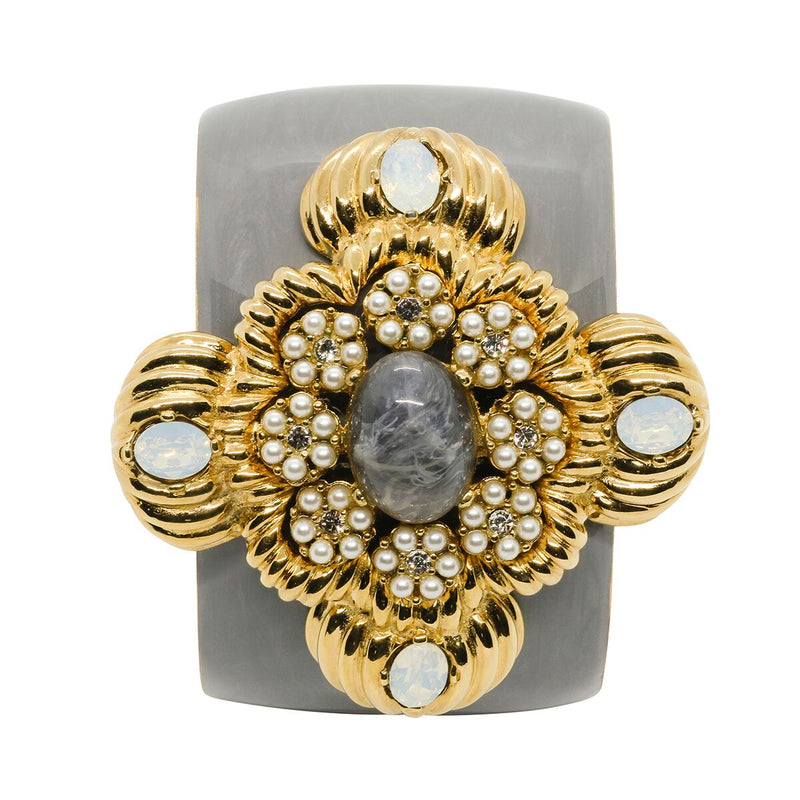 Lady Leonarda Cuff - Dove Grey - Order by 02.12.19 for Christmas Delivery