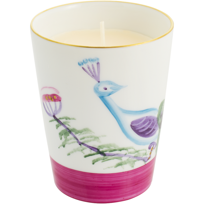 Peacock Candle - Fuchsia Pink