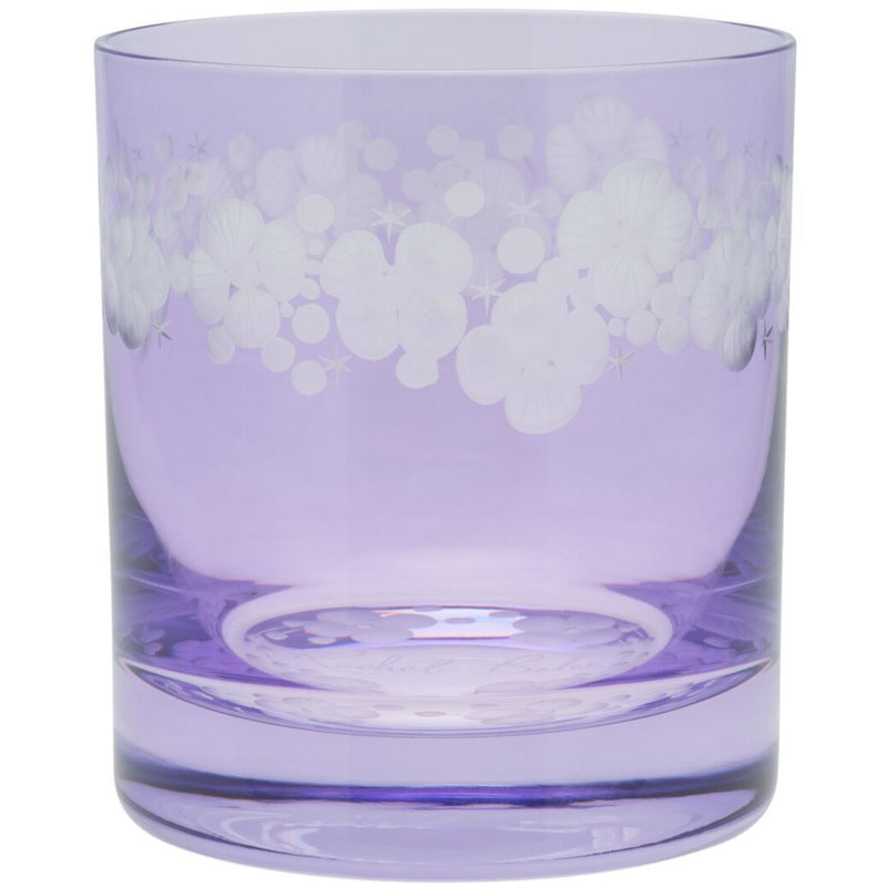 Moira Lace Cap Hydrangea Double Old Fashioned Tumbler - Violet