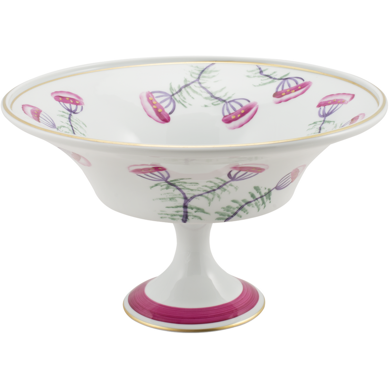 Peacock & Blossom Fruit, Pudding, Decorative Bowl Fuchsia Pink