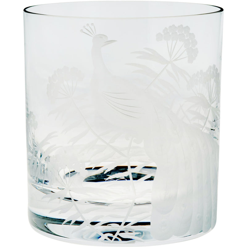 Moira Peacock & Blossom Double Old Fashioned Tumbler - Clear