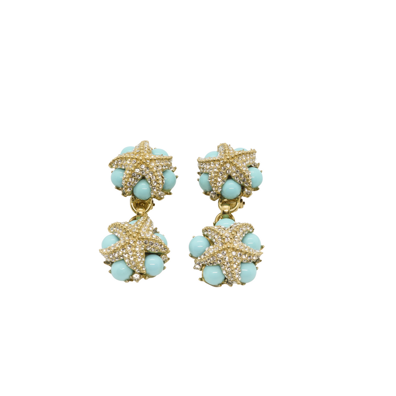 Oceana Drop Earrings - Turquoise