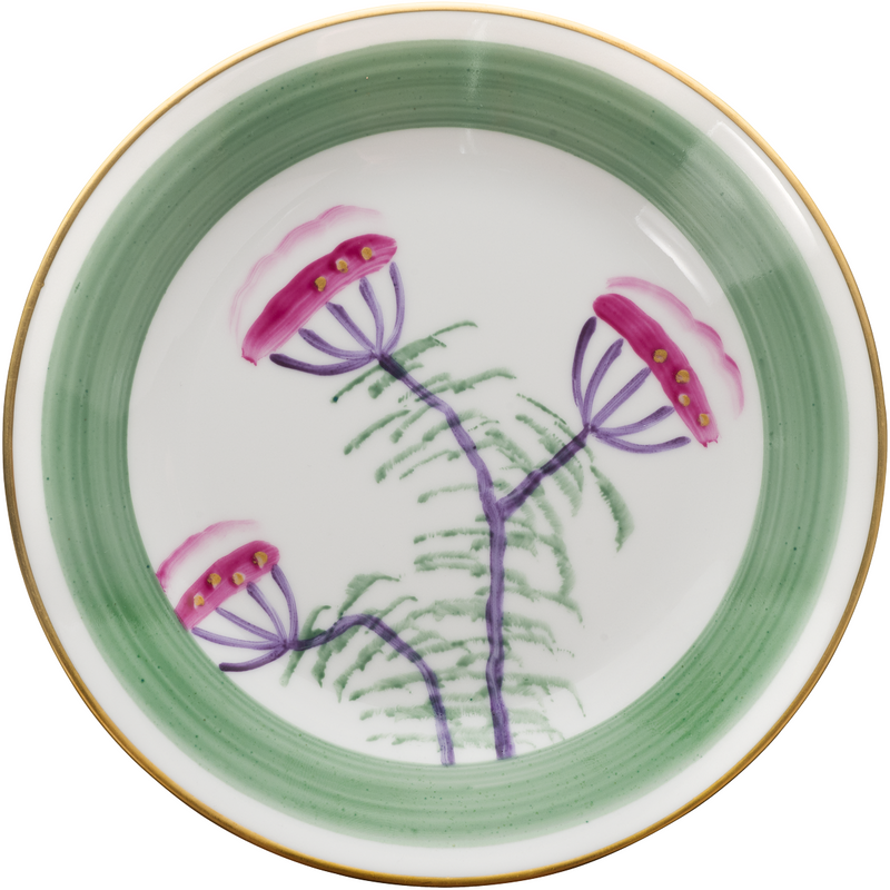 Peacock Bread, Side Plate - Emerald Green