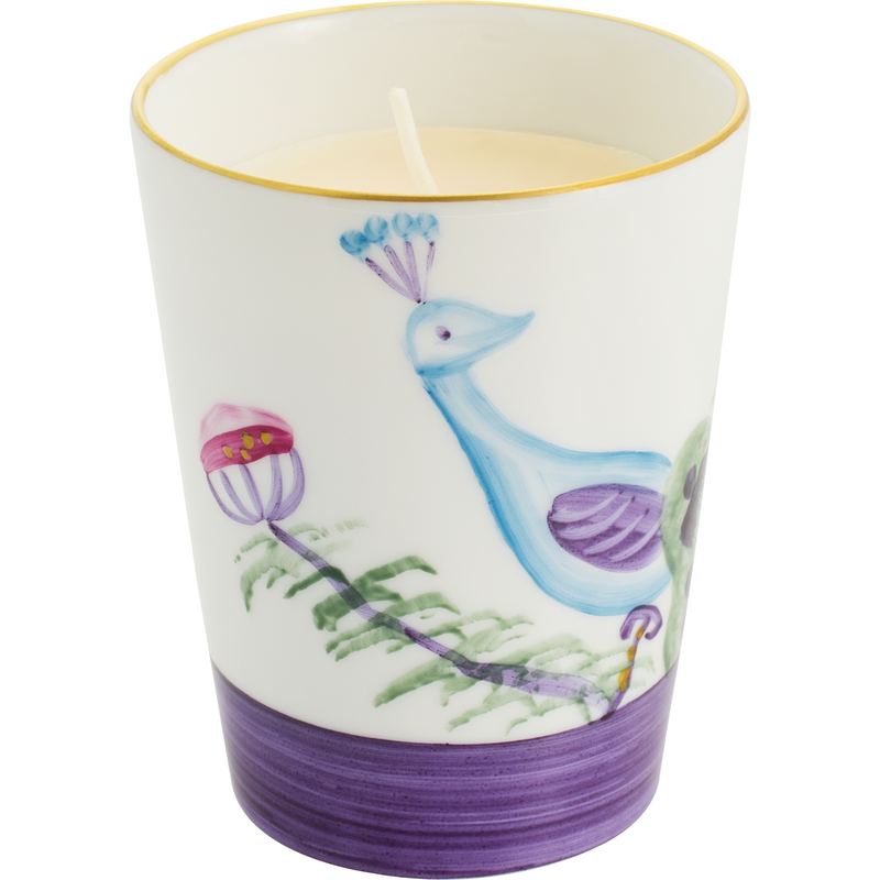 Peacock Candle - Amethyst Purple