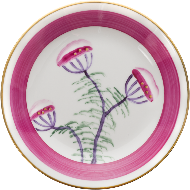 Peacock Bread, Side Plate - Fuchsia Pink
