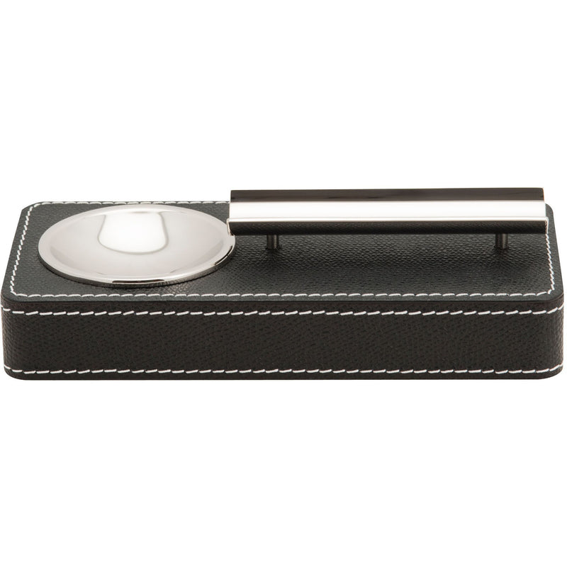 Leather Ashtray - Black