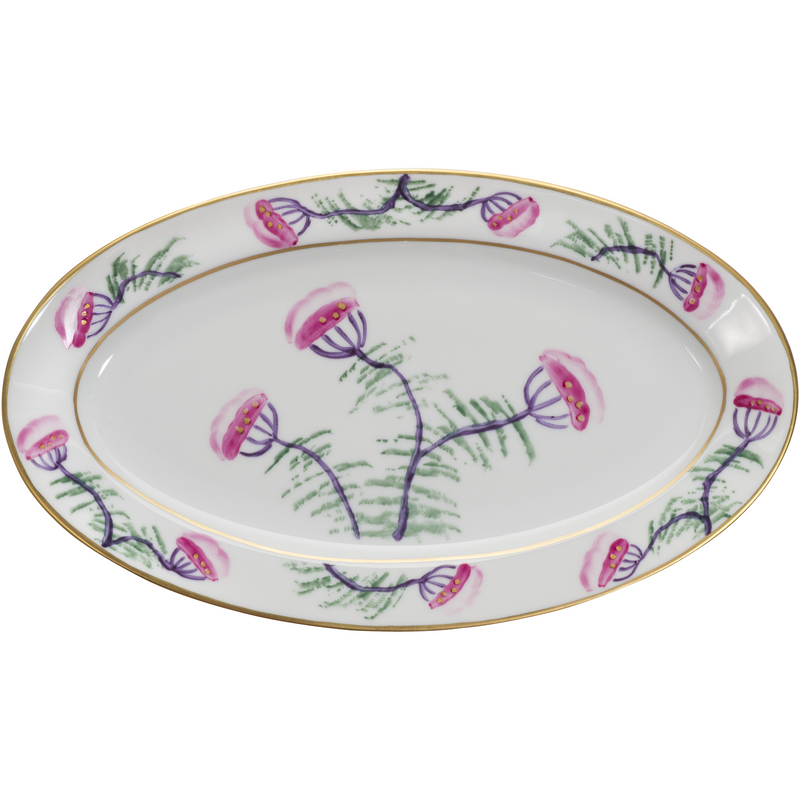 Blossom Small Oval Canape Plate