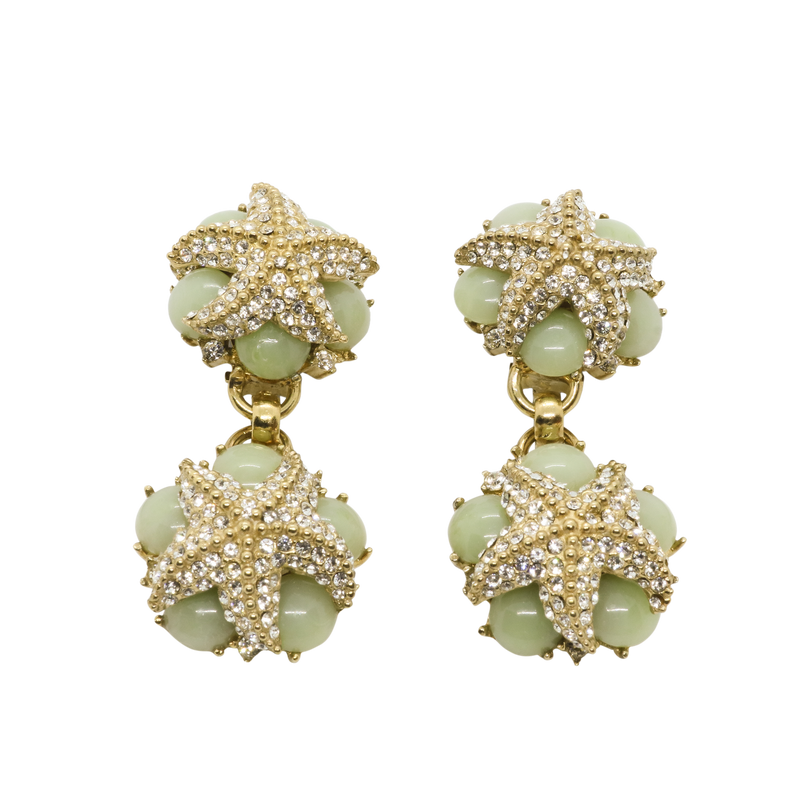 Oceana Drop Earrings - Seafoam Green
