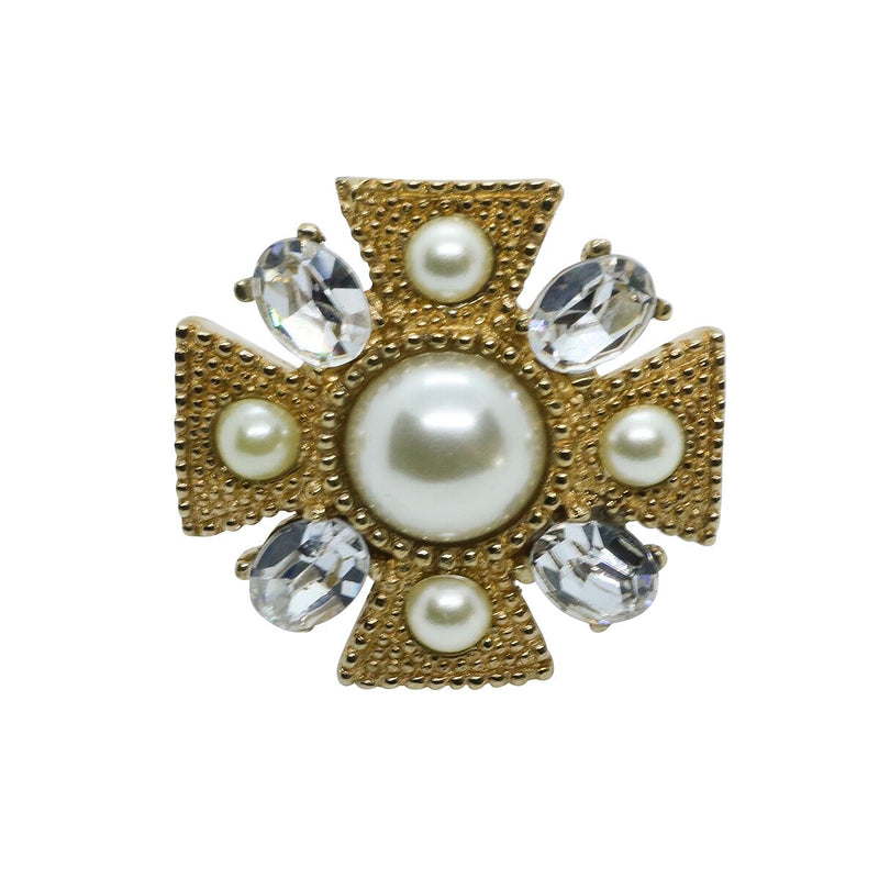 Lady Alessia Ring - Gold & Pearl