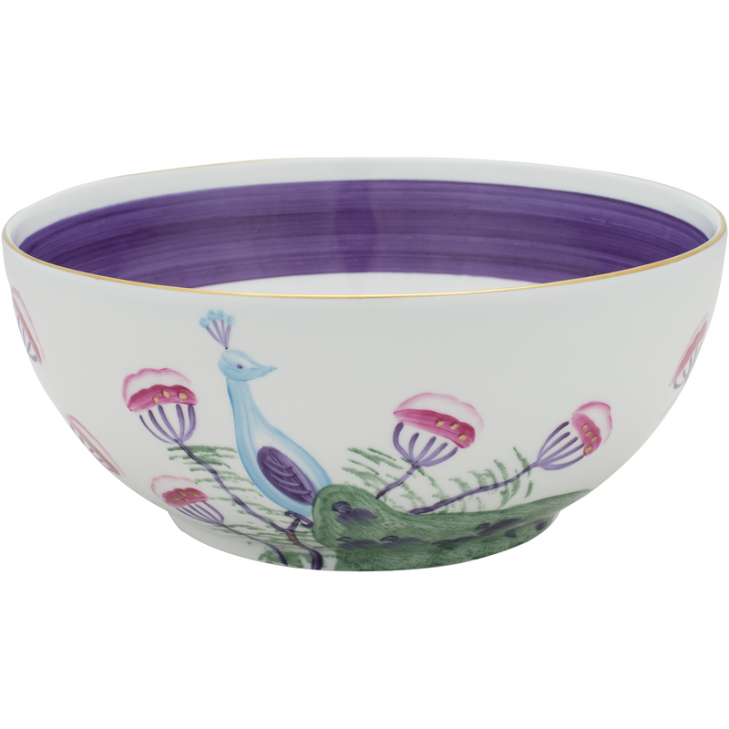 Peacock Salad Bowl - Amethyst Purple
