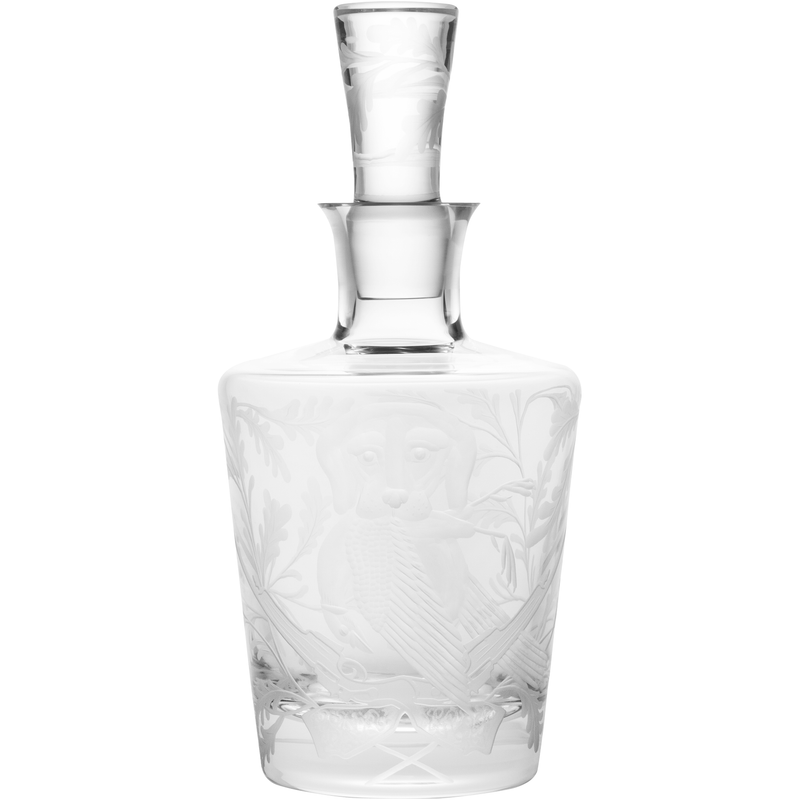 Decanter - Labrador With Pheasant - Clear