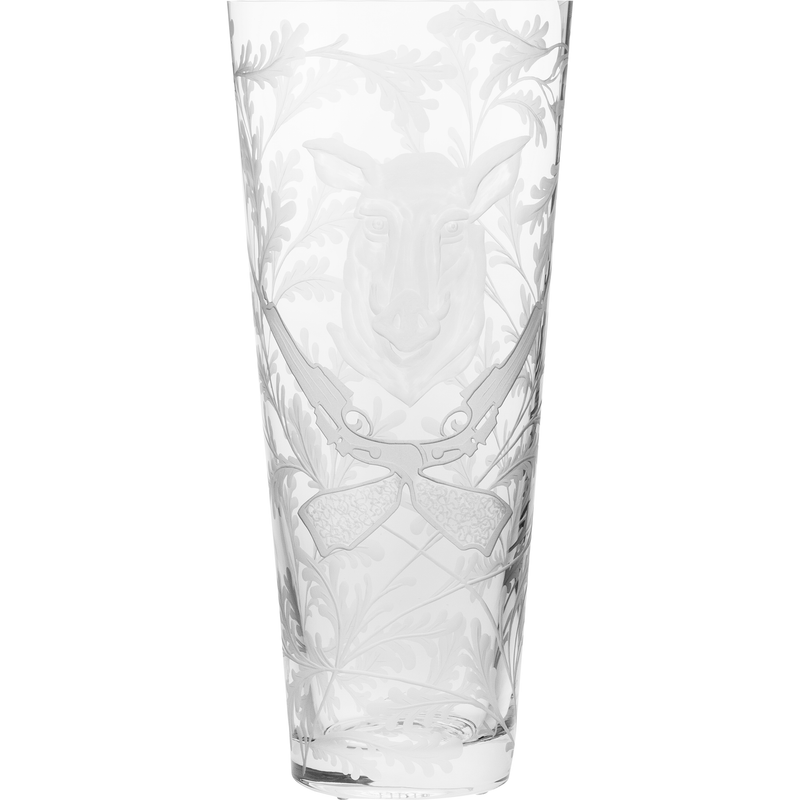 Crystal Vase - Wild Boar - Clear
