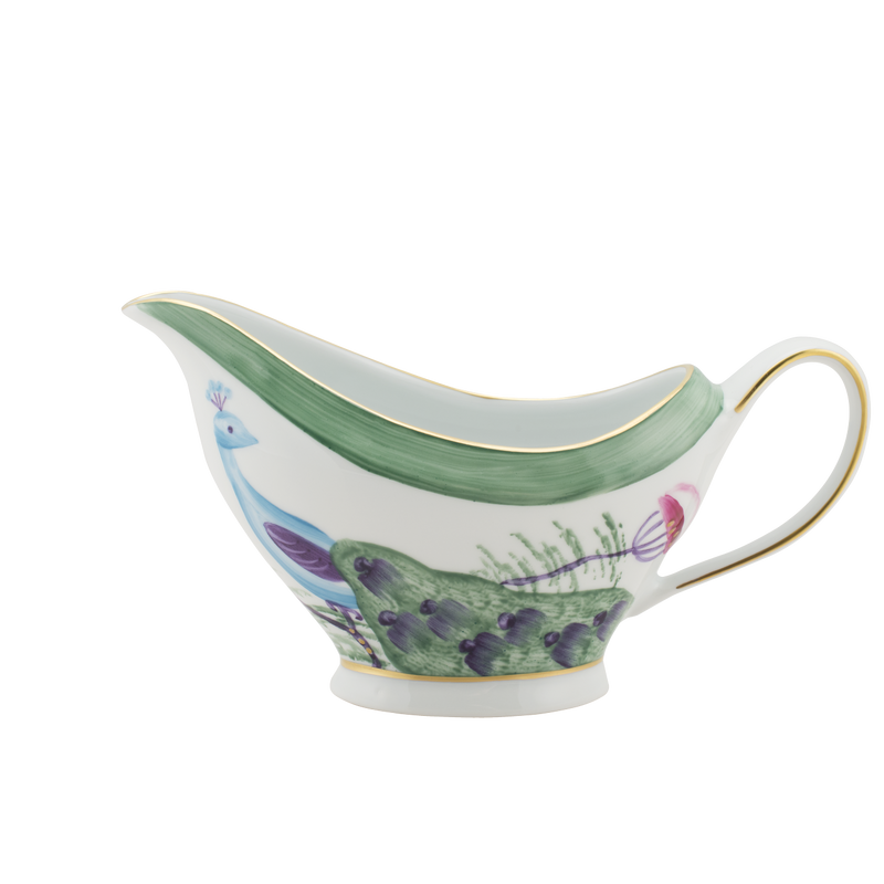 Peacock Sauce Boat Emerald Green