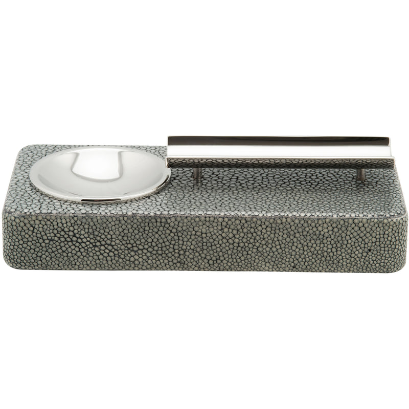 Shagreen Ashtray - Fango Green