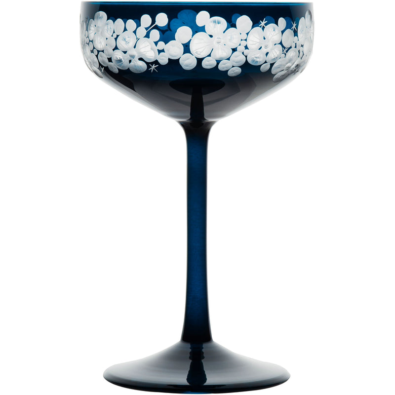 Isadora Champagne Saucer - Peacock Blue