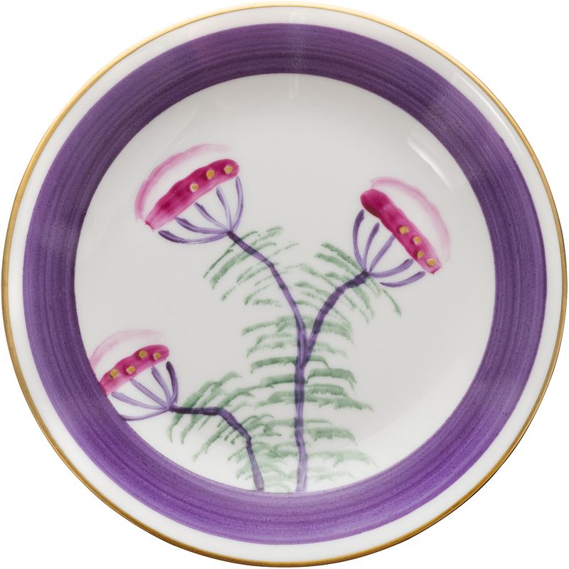 Peacock Bread, Side Plate - Amethyst Purple