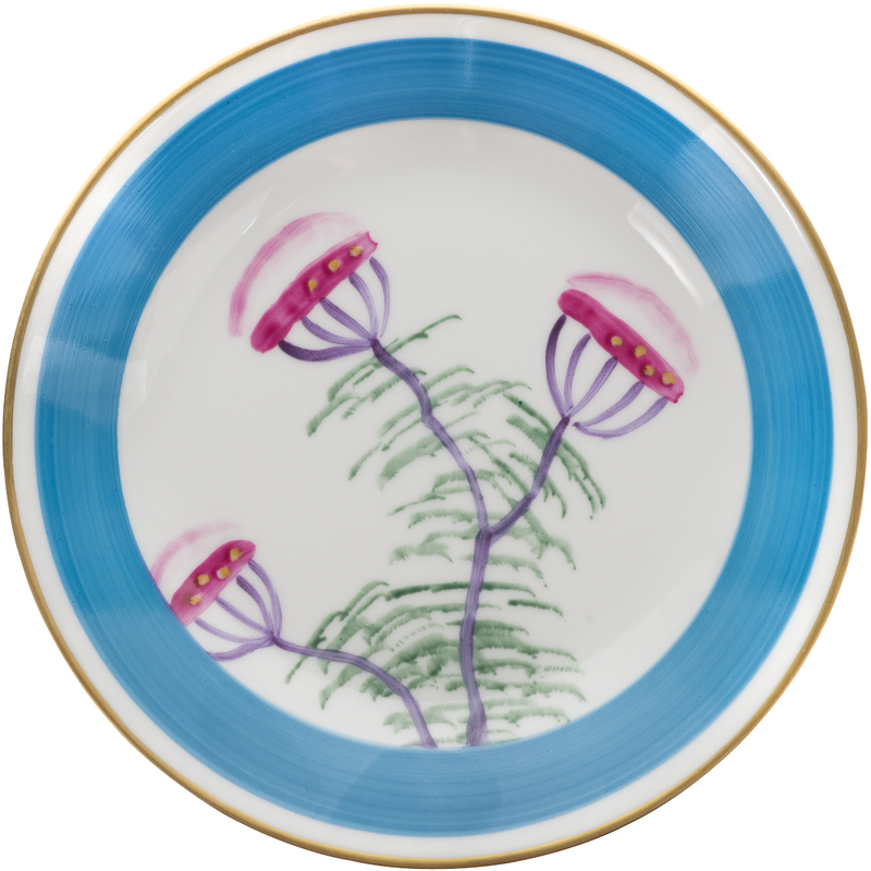 Peacock Bread, Side Plate - Turquoise Blue