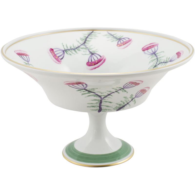 Peacock & Blossom Fruit, Pudding, Decorative Bowl Emerald Green