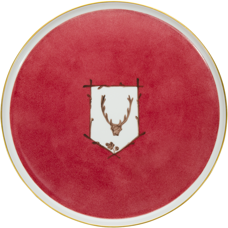 Saint Hubert Tart Plate - Winter Ruby Red