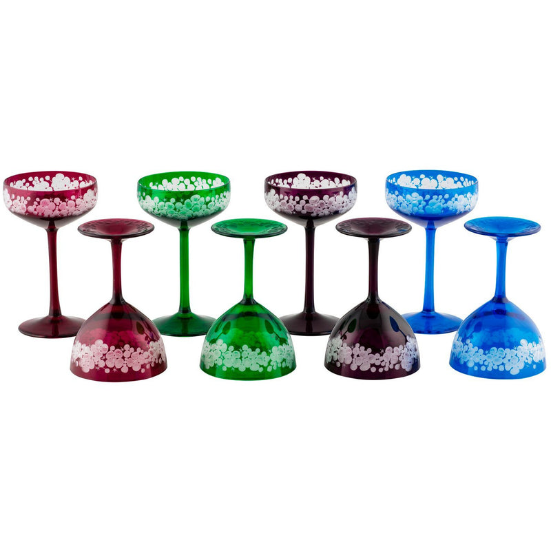 Isadora And Cristobelle Champagne Saucers - Set Of 8 - Summer Colour Set