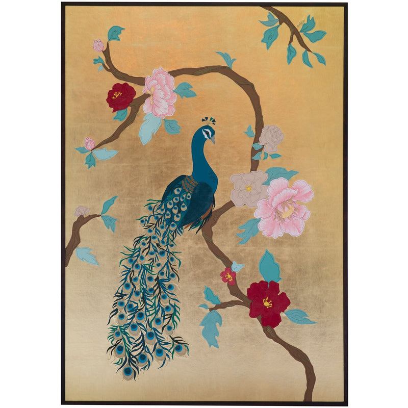 Framed Wall Panel - Peacock
