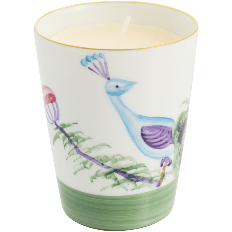 Peacock Candle - Emerald Green