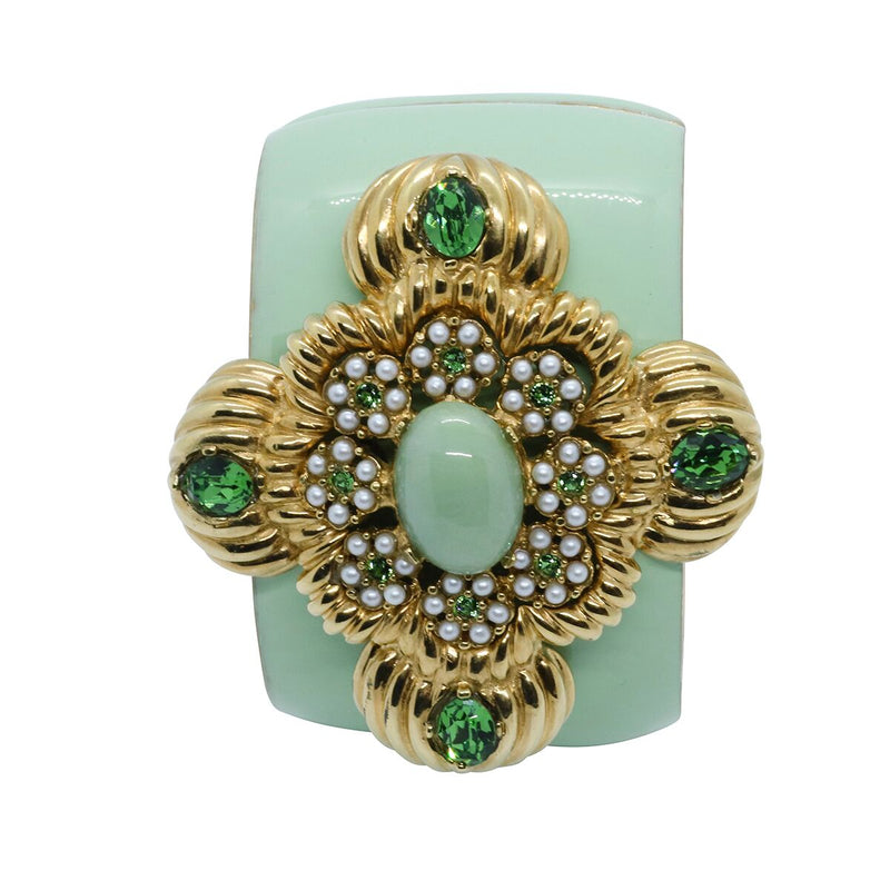 Lady Leonarda Cuff - Mint Green - Order by 02.12.19 for Christmas Delivery