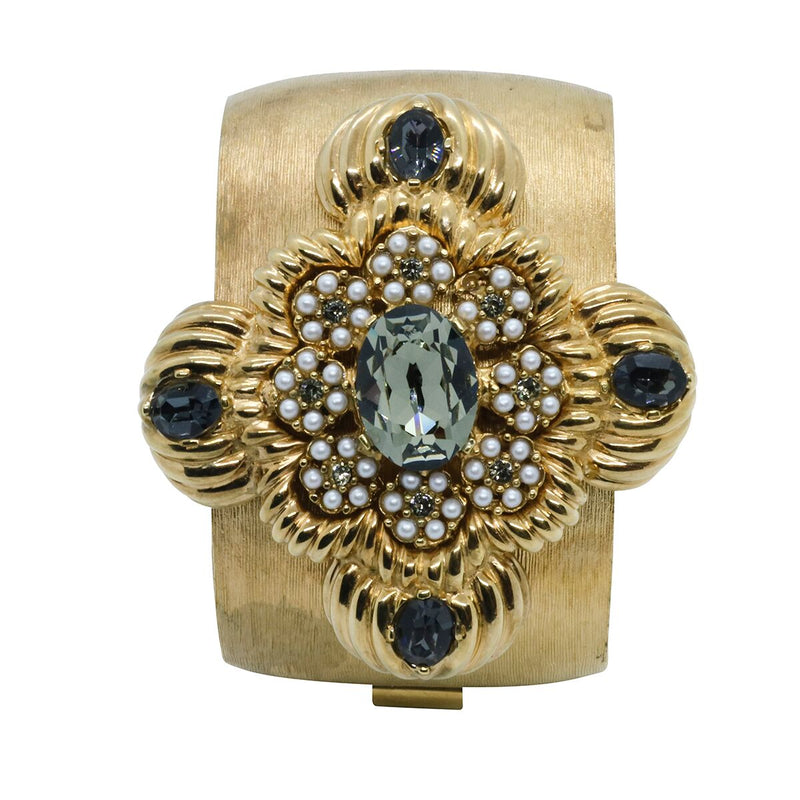 Lady Leonarda Cuff - Gold & Black Diamond