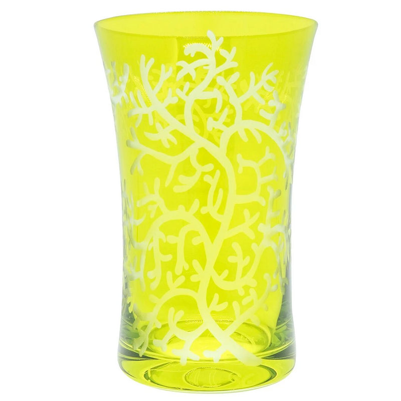 Charlotte Water Glass - Lime Green