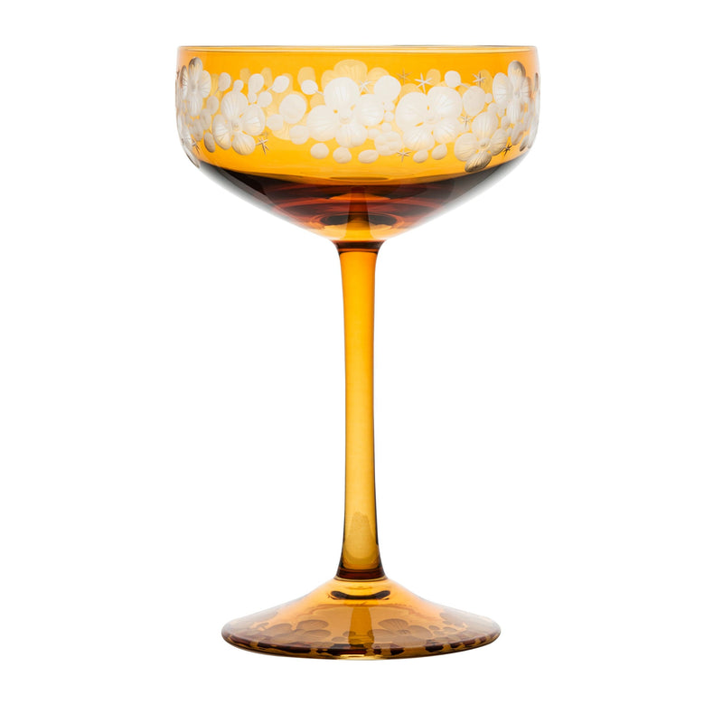 Isadora Champagne Saucer - Amber