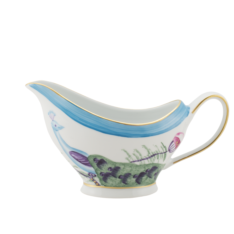 Peacock Sauce Boat - Turquoise Blue