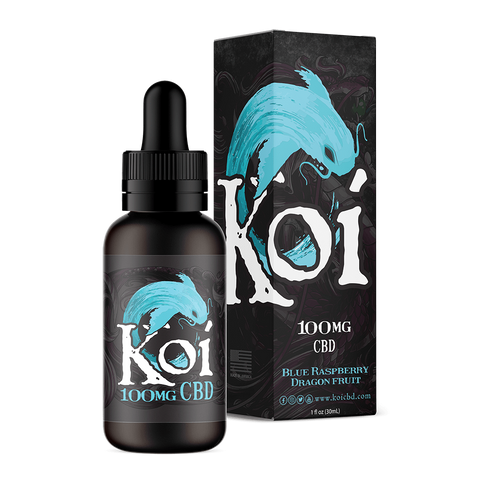 Koi Hemp Extract Vape Juice | Blue Raspberry Dragon Fruit