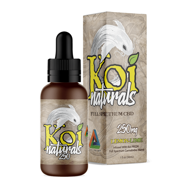 Koi Naturals Hemp Extract Tincture | Lemon-Lime