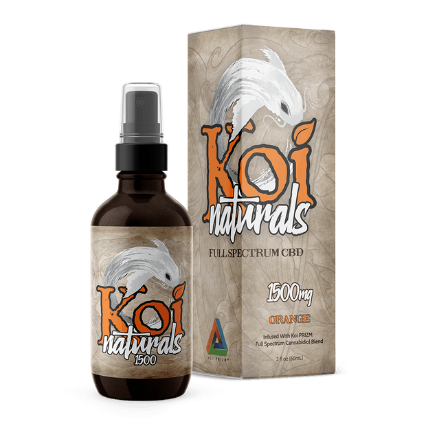 Koi Naturals Hemp Extract Spray | Orange