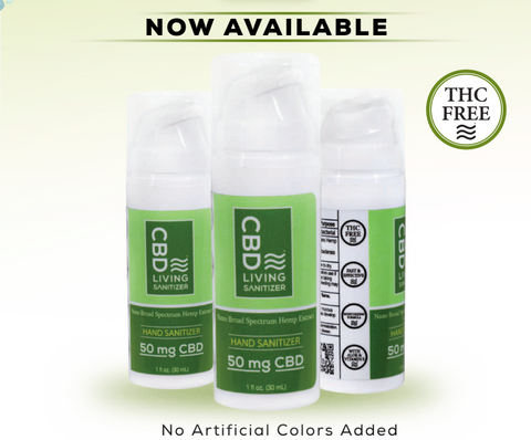 CBD Living 50mg Hand Sanitizer