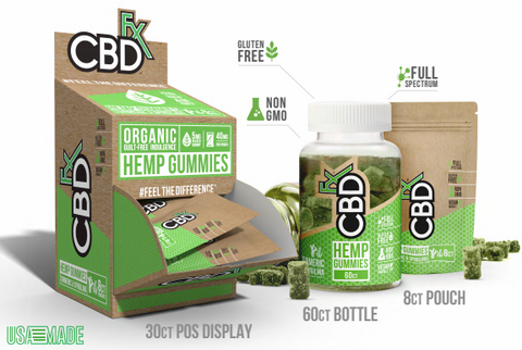 CBD Fx Hemp Gummies With Tumeric & Spirulina