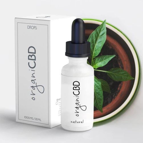 organiCBD™ Natural: Unflavored Drops - 1000mg