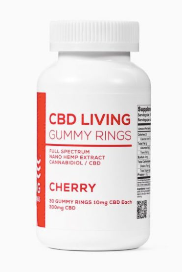 CBD Living Cherry Gummy Rings - 30ct