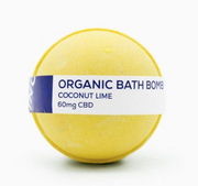 CBD Living Bath Bomb 60mg - Coconut Lime