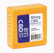 CBD Living Soap 60mg - Amber Bergamot