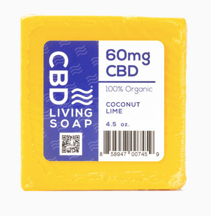 CBD Living Soap 60mg - Coconut Lime